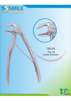 Baby Extracting Forcep Fig. 5 Lower Incisors
