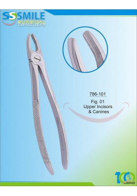 Extracting Forcep English Pattern Fig.1 Upper Incisors & Canines