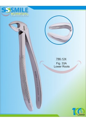 Extracting Forcep English Pattern Fig. 33A Lower Roots